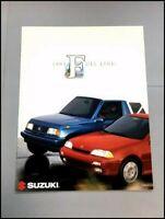 1993 Suzuki Swift Sidekick Samurai Sales Brochure Catalog