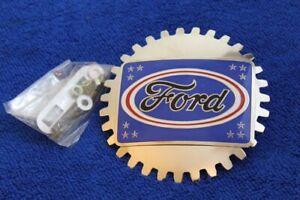 Chrome Ford Blue Oval Grille Badge License Bumper Topper Accessory Truck F150