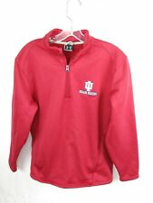 Under Armour Unisex Indiana Hoosiers 1/4 Zip Size Small Pull Over Sweater   J4