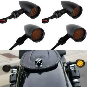 4x Motorcycle LED Turn Signal Blinker Lights For Harley Sportster XL 1200 883 US