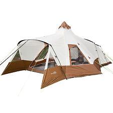 skandika Navaho 5 Persone Tenda campeggio Tipi 720x470cm zanzariera marron nuova