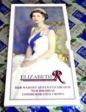 Uk (Great Britain) 1996 Queen Elizabeth Ii 70th Birthday Commemorative Crown Set