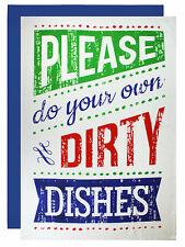 MUkitchen Cotton Designer Print Flour Sack Towel, Do Your Dishes, 6600-1622