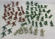 MPC 60 figures lot WW2 Army Toy Soldiers 54mm Japanese Red All Marked Plastic
