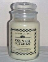 Christmas Cookie Yankee Candle Country Kitchen scented 22 oz large jar new