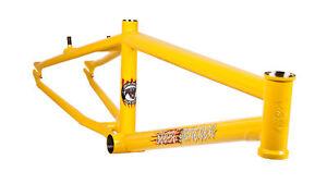 "S&M BIKES STEEL PANTHER RACE FRAME YELLOW 21 BMX 20"" BIKE 21"" SPEEDWAGON RACING"