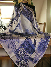 Grand/XL Foulard/Carré/Chale★ En soie 100% - hand rolled★Silk SCARF/Shawl