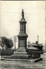 EARLY 1900'S. SOLDIERS & SAILORS MONUMENT. ELKHART, IND. POSTCARD s2
