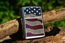 Zippo Lighter - Diamond Plate US Flag - United States - Old Glory