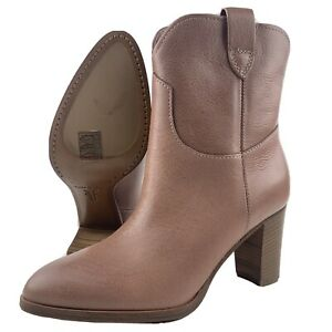Womens Frye Boots 5.5 June Short Pull Dusty Rose Made In Italy Tuscan Leather