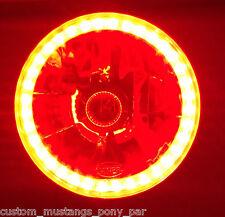 RED Halo H4 Headlight x2 Angel Eye Holden HK HT HG HQ HJ HX HZ WB Monaro GTS SS
