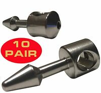 10 pair (20pcs) Stainless Steel Wishbone Inserts Spearit NTR for speargun bands