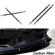Universal 2pcs Carbon fiber Front Bumper Lip Splitter Rod Strut Tie Bar Support