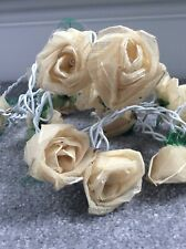 Cabbage Rose bud lights - Cream