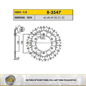 HUSQVARNA TE 300 2014 2015 2016 2017 STEEL REAR SPROCKET WORKS-Z 520 - 51 TEETH