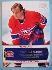 """2008-09 UD Montreal Canadiens Centennial """"Career Leaders"""" # 237 Guy Lafleur!"""