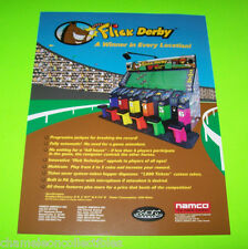 FLICK DERBY HORSE RACING By NAMCO ORIGINAL NOS VIDEO ARCADE GAME FLYER BROCHURE
