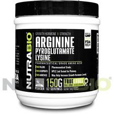 NutraBio L-Arginine Pyroglutamate & L-Lysine 150G Pure