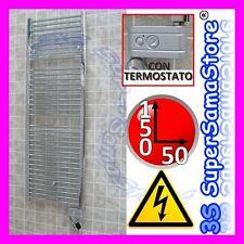 3S SCALDASALVIETTE ELETTRICO con TERMOSTATO 150x50 cm TERMOARREDO CROMATO CROMO