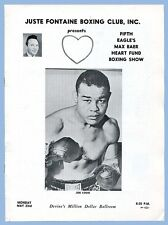 MAX BAER HEART FUND BOXING PROGRAM - JOE LOUIS HONORED GUEST - JUSTE FONTAINE