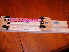 """18"""" PARACORD BRACELET MAKING JIG with 3 buckles & 2 vertical posts"""