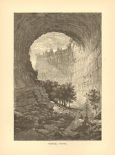 Virginia, Scott County, Natural Tunnel, Vintage, Antique Art Print, 1872