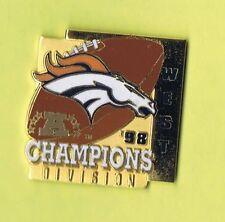 1998 Denver Broncos West Division Champions SB NFL Lapel Hat Pin