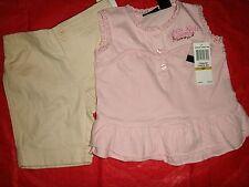 Calvin Klein new girls shirt shorts set 3T NWT Twins