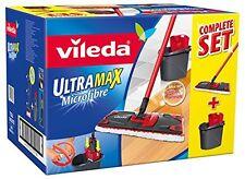 Vileda UltraMax Flat Mop and Bucket Set, Multi-Colour