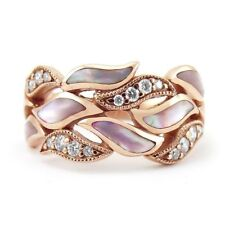 18K Rose Gold Filled White Pink Sapphire Women Wedding Party Ring Gift Size6-10