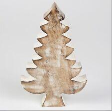ALBERO di Natale Decorazione Rustico Nordic Legno di Mango Decorazione Ornamento Rustico