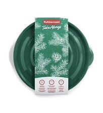 Rubbermaid TakeAlongs Green Holiday Serving Bowl & Storage Containers,15.7 Cup