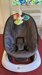 ❤️4MOMS MAMAROO BABY SWING GRAY & BLACK W/ REVERSIBLE TOY FANTASTIC CONDITION!