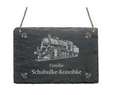 Türschild « LOKOMOTIVE » Schild + IHR TEXT - Lokführer Lok Eisenbahn Name Zug