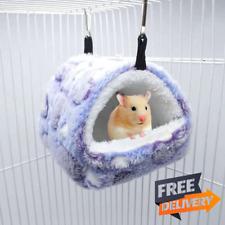 Cute Small Pet Bird House Parrot Soft Hamster Comfortable Plush Hanging Hammock