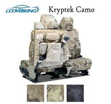 Coverking Custom Tactical Seat Covers Ballistic Canvas Front Row - Kryptek Camo