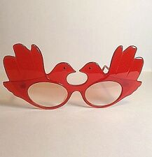 Vintage Anglo American Optical Mod DOVES Clear Red Frame Eyeglasses  England