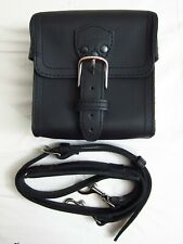 Saddleback Leather Small Gadget Bag Black with Shoulder Strap 7� W x 7� H x 4� D