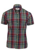 Camicie casual e maglie da uomo a manica corta in poliestere con button down