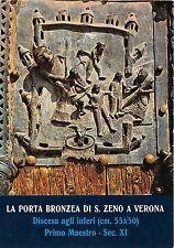 BG6725 discesa agli inferi  verona porta bronzea di s zeno sculpture art   italy