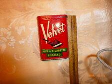 Vintage Velvet Pipe & Cigarette Tobacco Tin Can