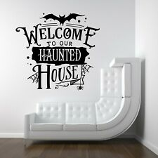Halloween Haunted House Spooky Vinyl Decal Stickers Shop Window Wall Decor