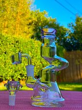 "Hookah Glass Waterpipe 8"" Bubbler Bong Best Filtered Water Pipe + Two Bowls"