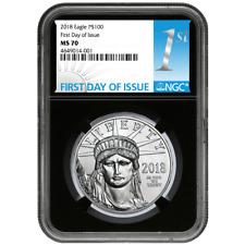 2018 $100 American Platinum Eagle NGC MS70 FDI First Label Retro Core