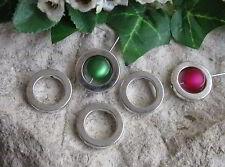 10 Metallperlen Perlenrahmen Kreis, silberfarben, 1,95cm, Perlen basteln, Ring