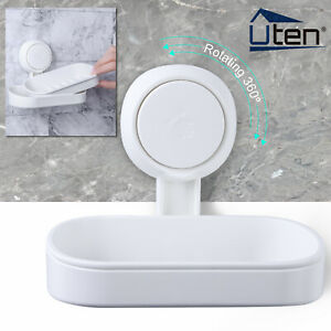 Soap Dish Wall-Mounted Holder Bathroom Shower Rack Modern Single Layer Basket