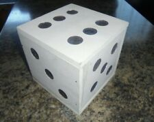 VINTAGE MAGICIAN'S PROP DICE SHAPED WOODEN BOX HAND MADE ONE OF A KIND