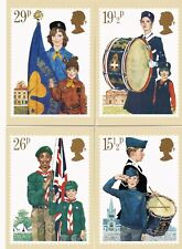 Royal Mail Stamp Postcards PHQ 58 Youth Organisations 1982 Complete