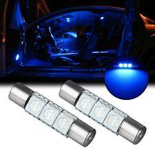 2x 8000K Ice Blue 3-SMD LED 6641 Fuse Shape Sun Visor Lights Lamps Bulbs
