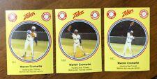 1982 Zellers Baseball - #18ABC Warren Cromartie - 3 Card Set - Montreal Expos